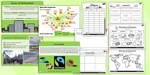 Human Geography Teaching Pack - ks2 geography, lesson pack, ks2
