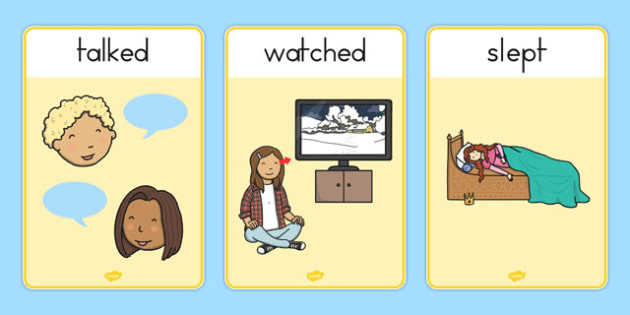 Verb Action Posters Past Tense - australia, verb, action, posters