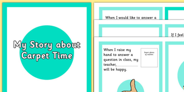 Answering In Class Social Story - answering in class, social story, answering, class, social, story