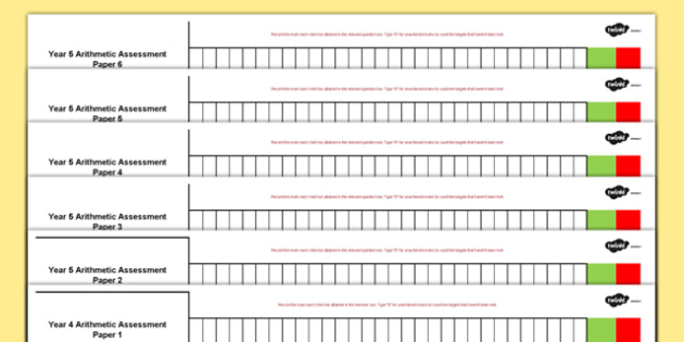 Year 4 Arithmetic Full Practise Tests Assessment Spreadsheet - year 4, arithmetic, full practice tests, assessment spreadsheet