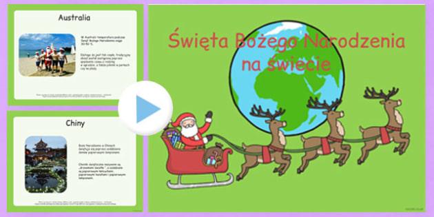 Prezentacja Powerpoint Święta Bożego Narodzenia na świecie
