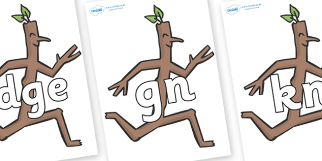 Silent Letters on Stick Man to Support Teaching on Stick Man - Silent Letters, silent letter, letter blend, consonant, consonants, digraph, trigraph, A-Z letters, literacy, alphabet, letters, alternative sounds