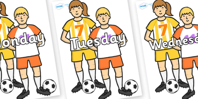 Days of the Week on Players - Days of the Week, Weeks poster, week, display, poster, frieze, Days, Day, Monday, Tuesday, Wednesday, Thursday, Friday, Saturday, Sunday