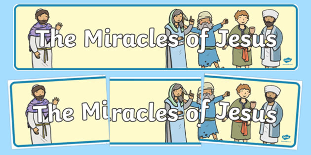 The Miracles of Jesus Bible Stories Display Banner - banners