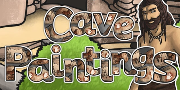 Cave Paintings Display Lettering - display, lettering, cave, paint