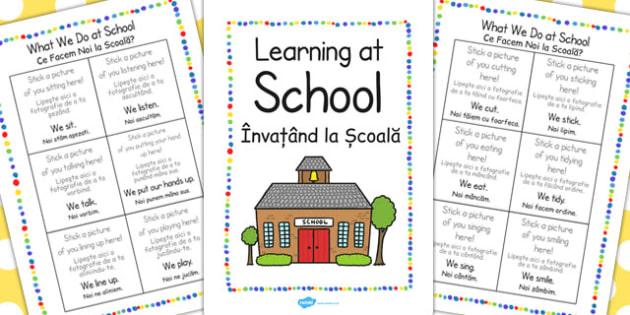 New EAL Starter Learning School Booklet EAL Romanian Translation