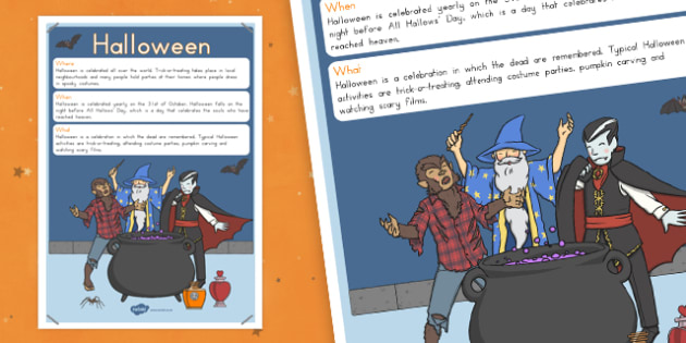 Halloween Where When What Poster - halloween, october, display, information, spooky,