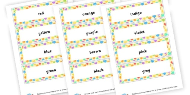 Colours Word Cards - Colour Primary Resources - Colour, art, paint, design, primary
