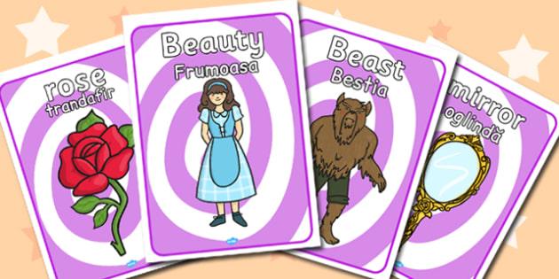 Beauty and Beast Display Posters Romanian Translation - romanian