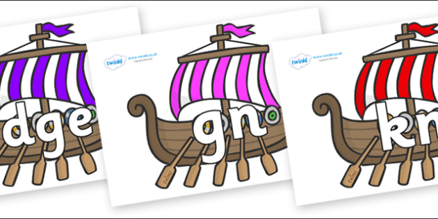 Silent Letters on Viking Longboats - Silent Letters, silent letter, letter blend, consonant, consonants, digraph, trigraph, A-Z letters, literacy, alphabet, letters, alternative sounds