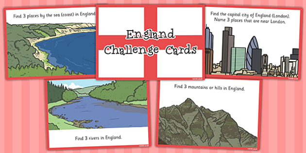 Our Country England Challenge Cards - challenge, cards, country
