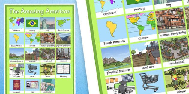 The Amazing Americas Word Grid - amazing americas, word grid, word, grid, americas