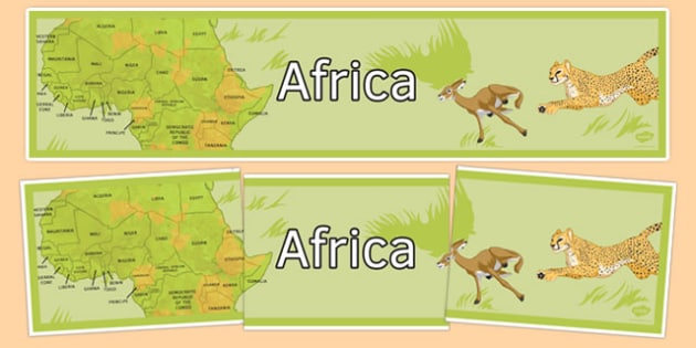 Africa Display Banner - africa, display banner, display, banner, continent, geography
