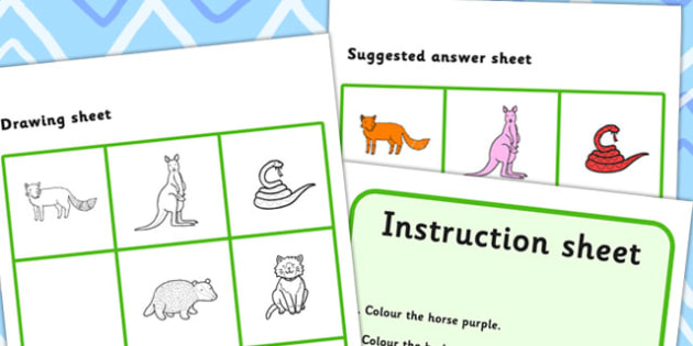 Listen And Do 2 Two Word Level - drawing, levels, worksheets