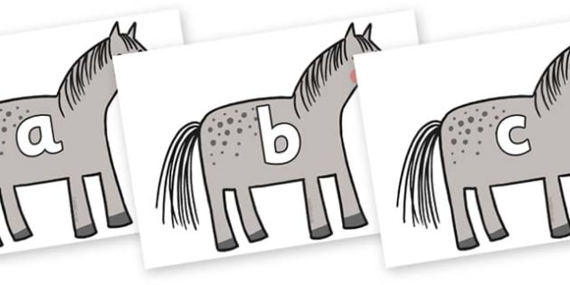Phase 2 Phonemes on Horse to Support Teaching on What the Ladybird Heard - Phonemes, phoneme, Phase 2, Phase two, Foundation, Literacy, Letters and Sounds, DfES, display