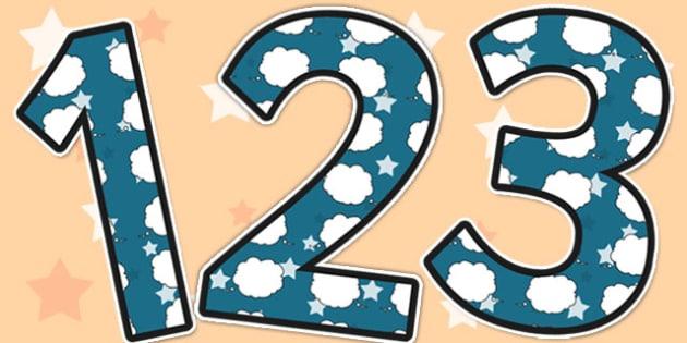 Memories Themed A4 Display Numbers - memories, display numbers