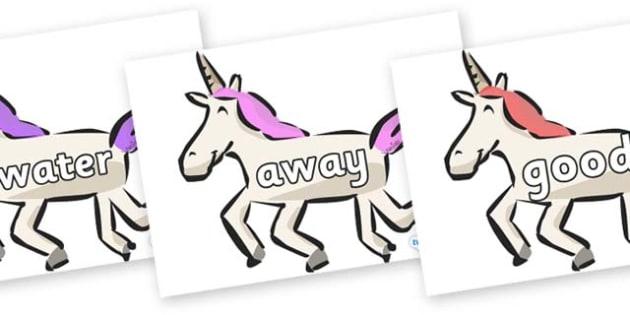 Next 200 Common Words on Unicorns - Next 200 Common Words on  - DfES Letters and Sounds, Letters and Sounds, Letters and sounds words, Common words, 200 common words