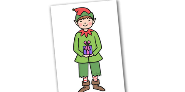 Christmas A4 Boy Elf Editable  - christmas, elves, santa, xmas