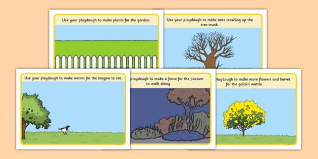 Backyard Habitat Playdough Mats - australia, Science, Year 1, Habitats, Australian Curriculum, Backyard, Living, Living Adventure, Environment, Living Things, Animals, Playdough Mat