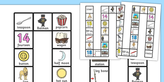 Two Syllable Final 'N' Board Game - final n, sound, board game