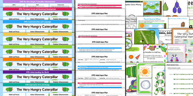 EYFS Lesson Plan Enhancement Ideas and Resources Pack to Support Teaching on The Very Hungry Caterpillar