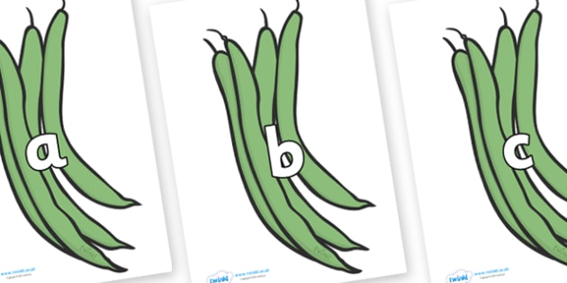 Phase 2 Phonemes on Green Beans - Phonemes, phoneme, Phase 2, Phase two, Foundation, Literacy, Letters and Sounds, DfES, display