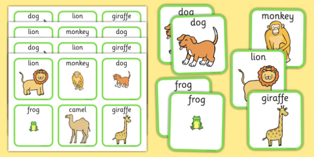 Zoo Animals Matching Cards - zoo animals, matching cards, matching, cards, match, zoo, animals
