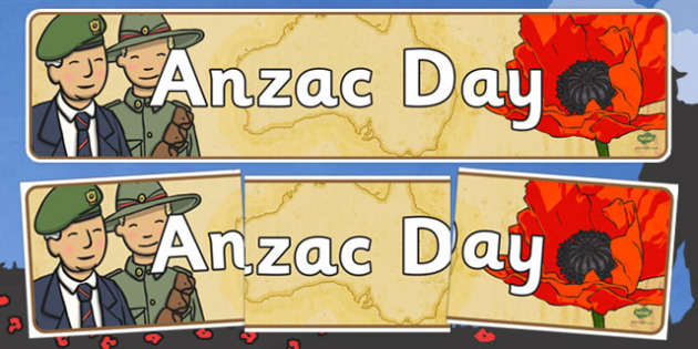Anzac Day Display Banner - anzac day, australia, banner, display