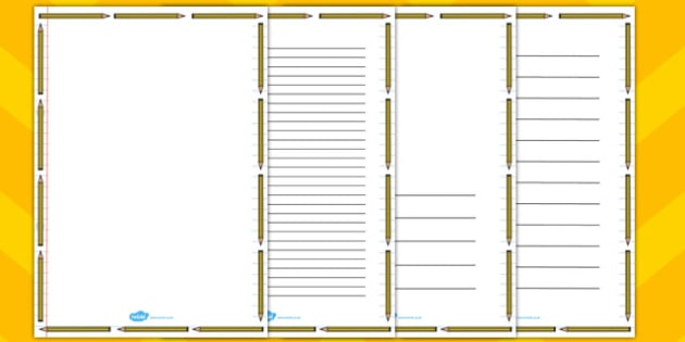 Pencil Page Border - pencil, page, border, page borders, borders