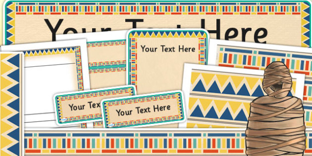 Ancient Egyptian Themed Display Template Pack - egypt, history