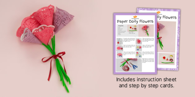 Paper Doily Flowers Craft Instructions - craft, instructions