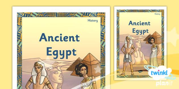 PlanIt - History LKS2 - Ancient Egypt Unit Book Cover - planit, book cover, unit, history, lks2, ancient egypt