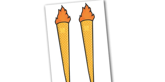 The Olympic Torches (Editable) - torches, Olympics, Olympic Games, sports, Olympic, London, 2012, activity, Olympic torch, flag, countries, medal, Olympic Rings, mascots, flame, compete, events, tennis, athlete, swimming