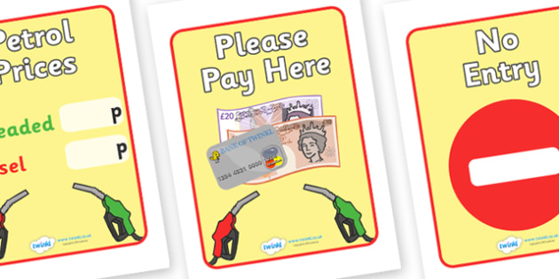 Petrol Station Sign - petrol station, sign, banner, poster, cars, cars, oil, pump, petrol, air pump, unleaded, diesel, car wash, flowers, snacks, newspapers