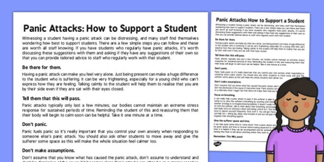 How to Support a Student Who is Having a Panic Attack - panic, attack