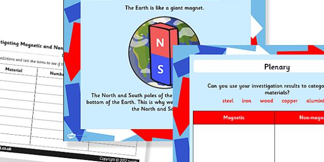 Magnetism Task Setter with Worksheets Powerpoint - magnetism, magnets, task setter, powerpoint, worksheets, information powerpoint, task setter powerpoint