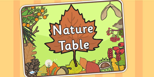 Nature Table Sign - nature, table, sign, labels, signs and labels