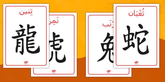 ملصقات رموز الأبراج الصينية - بوسترات، السنة الصينية، أبراج