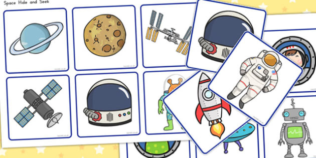 Space Hide and Seek - Activity, Activities, Games, Game, Visual
