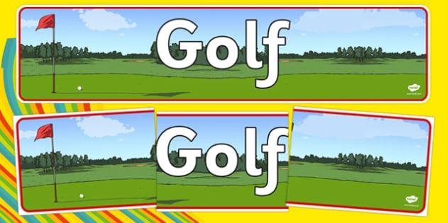 Rio 2016 Olympics Golf Display Banner - rio 2016, rio olympics, 2016 olympics, golf, display banner