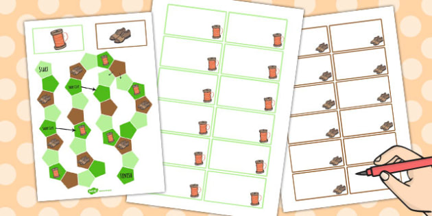 The Elves and the Shoemaker Themed Editable Board Game Editable
