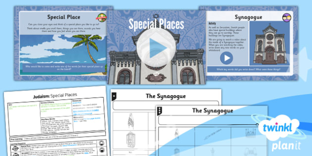 PlanIt - RE Year 3 - Judaism Lesson 3: Special Places Lesson Pack - jew, jewish, synagogue, Torah, Rabbi