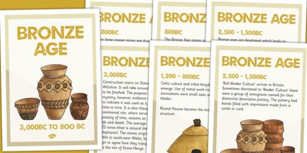 Bronze Age Timeline Posters - bronze age, timeline, history