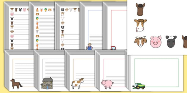 Editable Farm Page Borders Pack - editable, farm, page borders