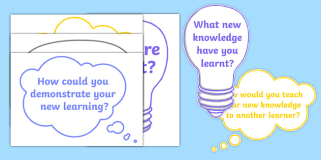 Learning Questions for Display - learning questions, display, learn