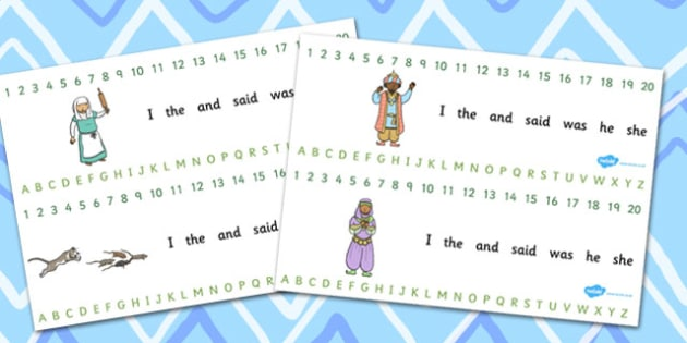 Dick Whittington Combined Number and Alphabet Strips - Combined