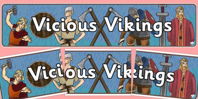 Vicious Vikings Display Banner - vikings, display, banner, header