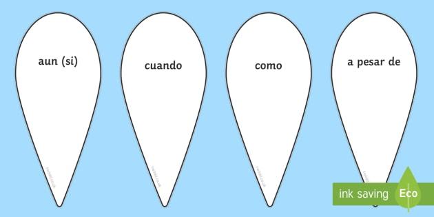 Spanish Conjunctions Fan