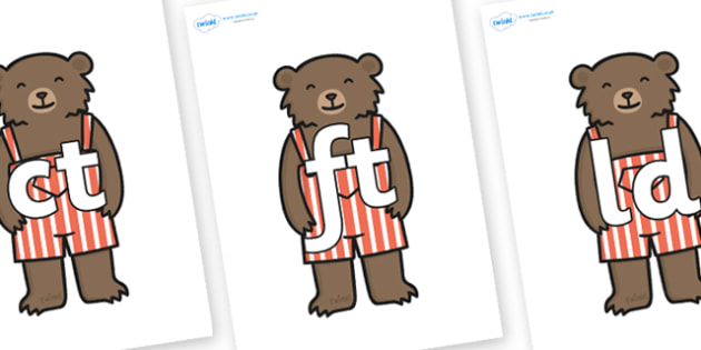 Final Letter Blends on Little Bear - Final Letters, final letter, letter blend, letter blends, consonant, consonants, digraph, trigraph, literacy, alphabet, letters, foundation stage literacy