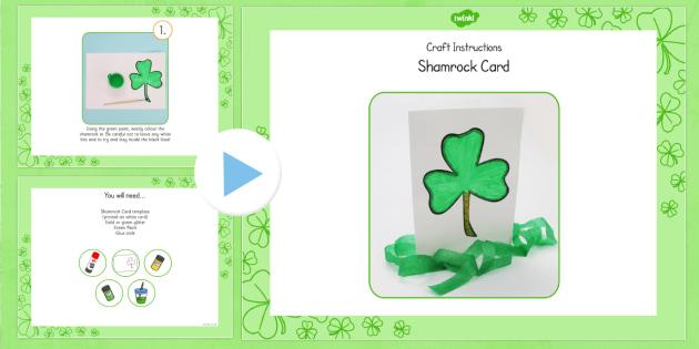 Shamrock Card Craft Instructions PowerPoint